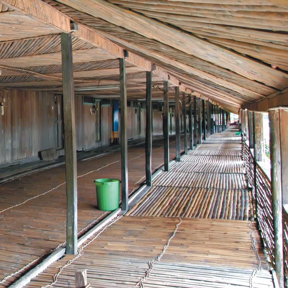 Kampung Mongkos Longhouse at Serian
