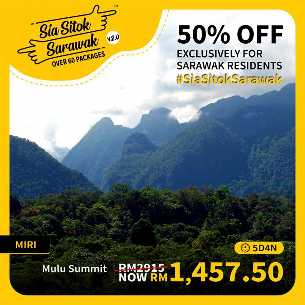 Travel Packages Offered in Sia Sitok Sarawak 2.0 - Mulu Summit (5D4N)